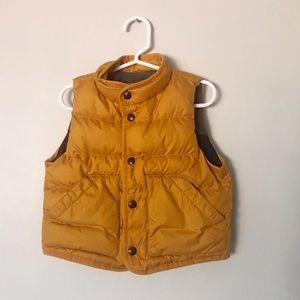 GAP Fleece Gold/Yellow Puffer Vest Size 12-18m
